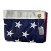 3x5 folded American Flag with dog tag