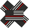 3x5 inch Thin Red Line Firefighter Decals 5-pack