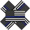 5-pack of thin blue line flag decals