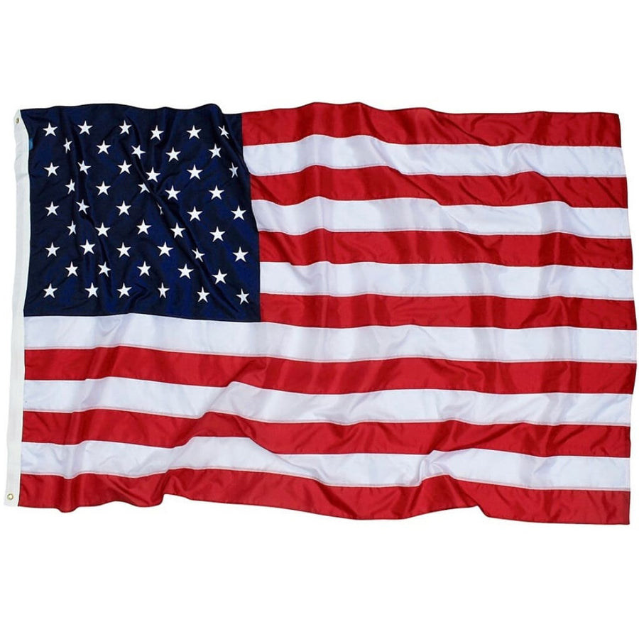 US Flag 5x8 foot folded with dog tag