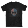 black t-shirt with American flag skull print