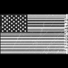 custom flag in bar code design