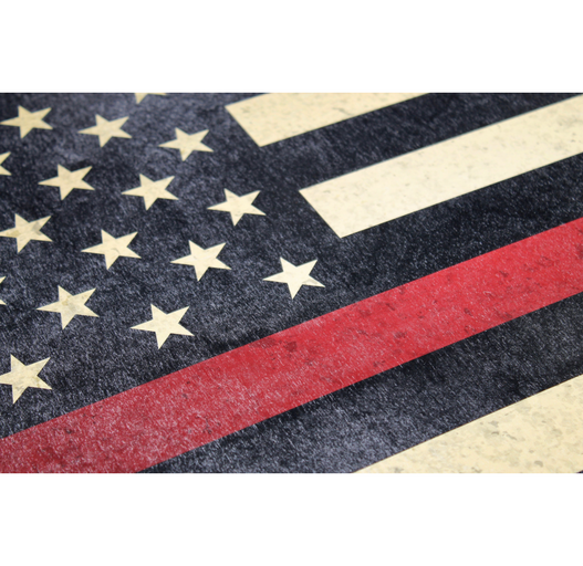 Thin red line flag wall art finelineflag for Red line printing