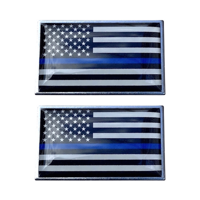 2-pack of thin blue line flag pins