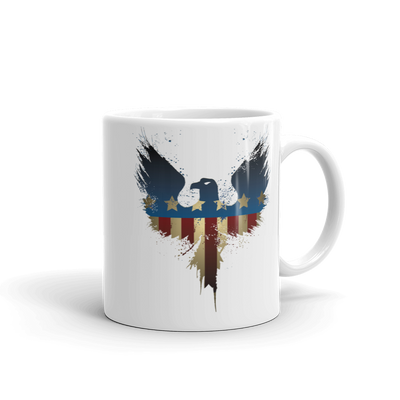 Stars and stripes on eagle coffee mug
