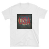white t-shirt with land of the free USA print
