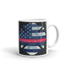 thin red line maltese cross print on mug handle on right