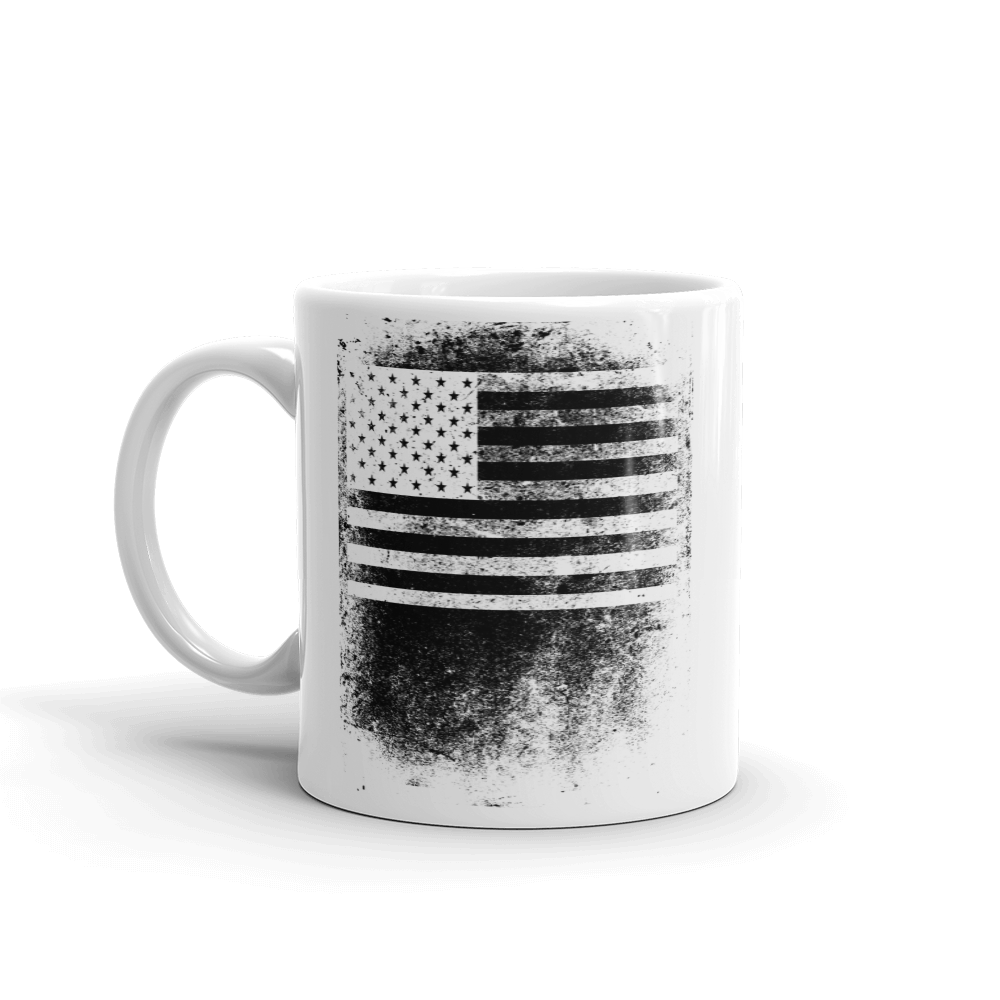black and white thumb print flag design US