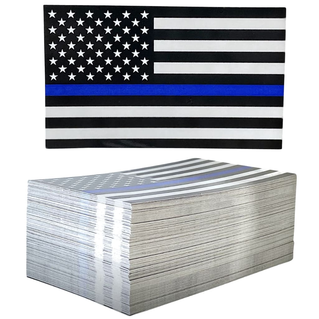 Thin Blue Line Flag decal and stack