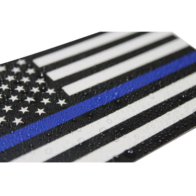 Thin Blue Line Decal with water droplets