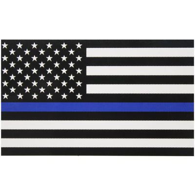 "3x5"" Thin Blue Line Flag Decal"