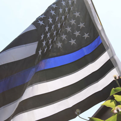 <strong>The Officer</strong><br> 3x5 Thin Blue Line Flag