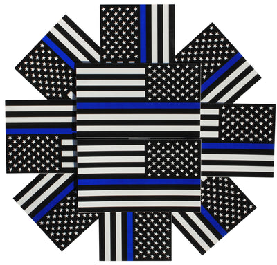 image of 10 pack of left side reversed police decals