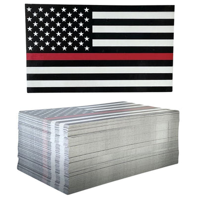 Thin Red Line Flag Decal on Stack