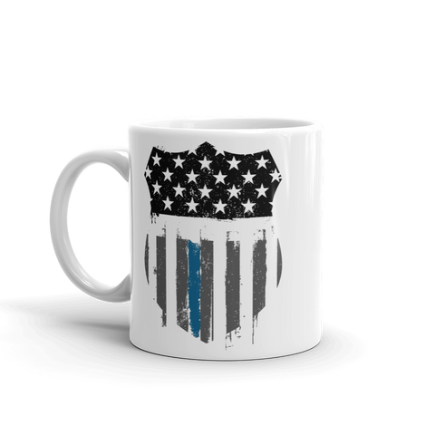 Thin Blue Line Badge Mug