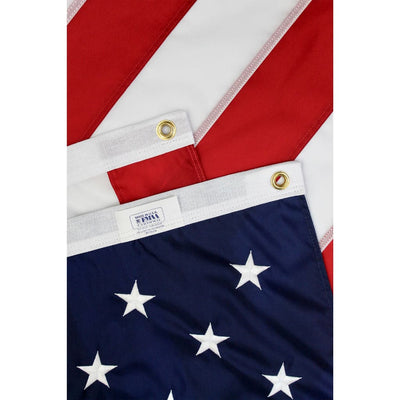 close up of brass grommets on US 4x6 flag