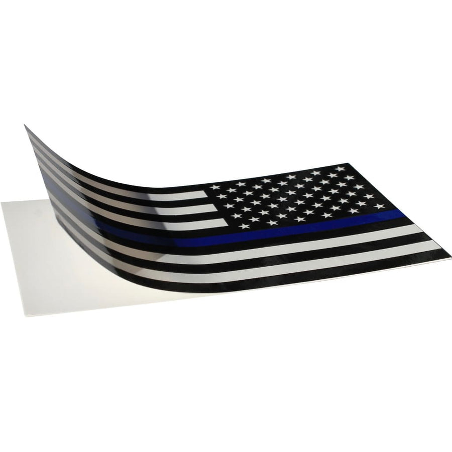 Reverse Thin Blue Line Flag decal