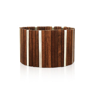 Walnut + Silver Bar Bracelet