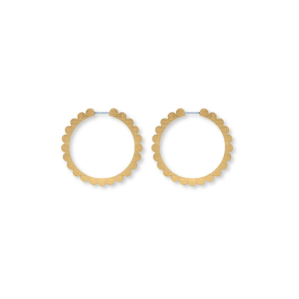 MEDIUM SCALLOPED HOOPS