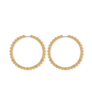 LARGE SCALLOPED HOOPS