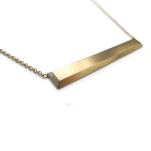 14K Ingot Bar Necklace