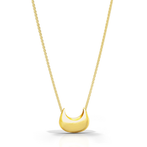 18K Crescent Necklace