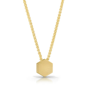 14K Honeycomb Necklace