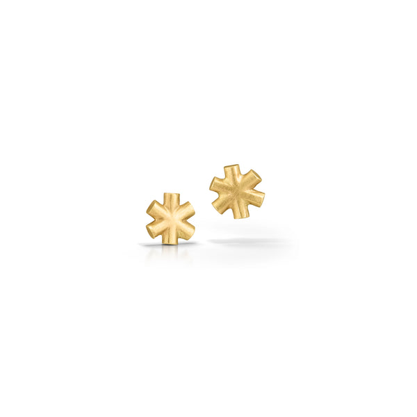 14K Asterisk Earrings