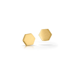 14K Honeycomb Earrings