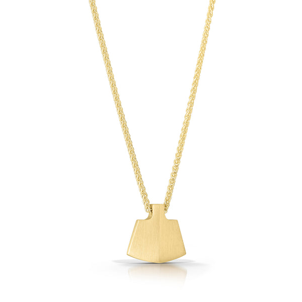 14K Gingko Necklace