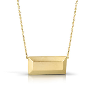 14K Ingot Necklace