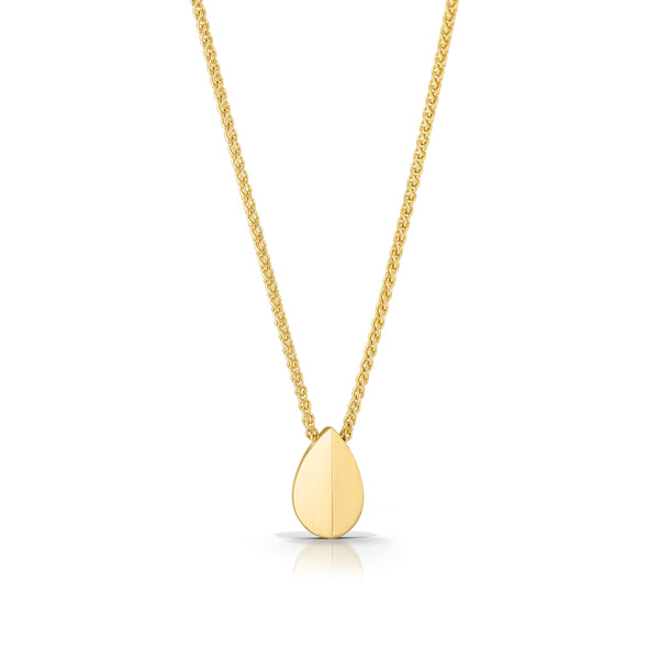 14K Little Leaf Necklace