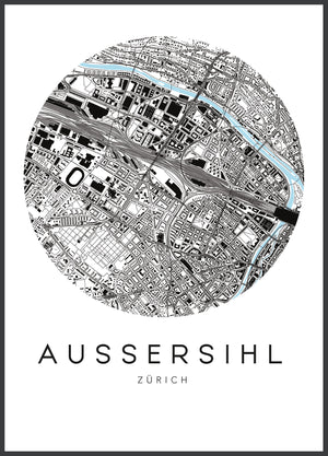 Open image in slideshow, map - urbanhood - züri aussershil - collab zürich