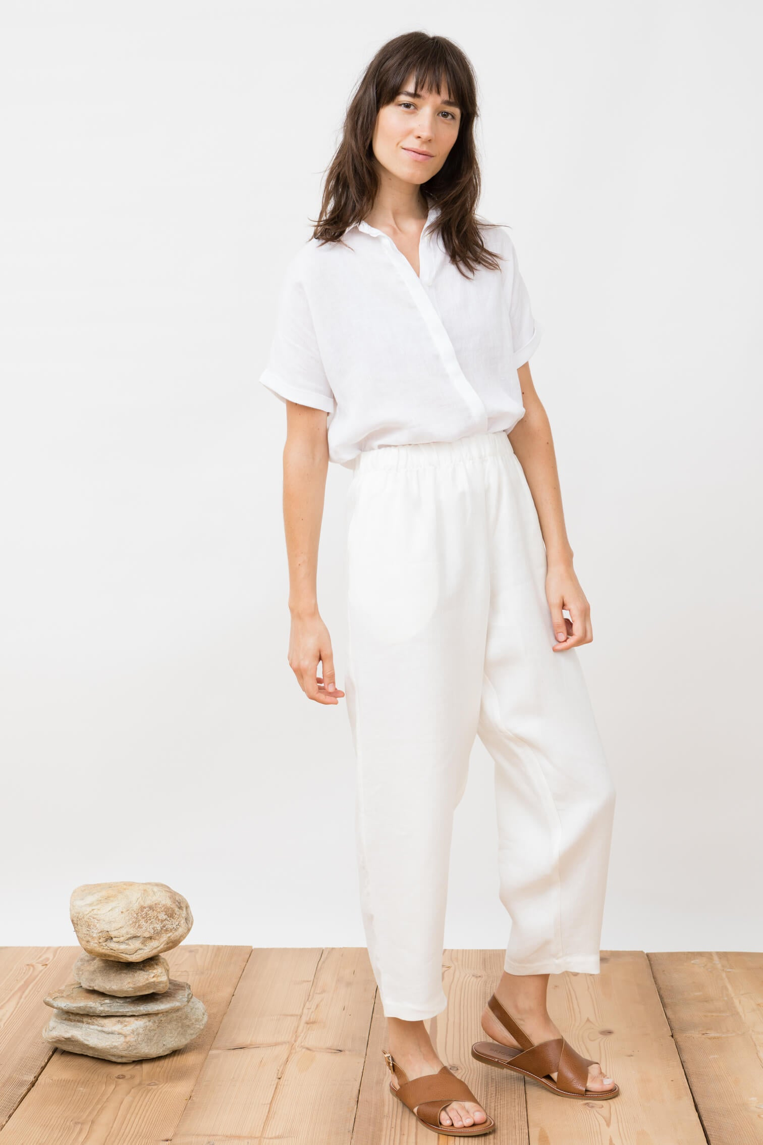 trousers - viento - ivory