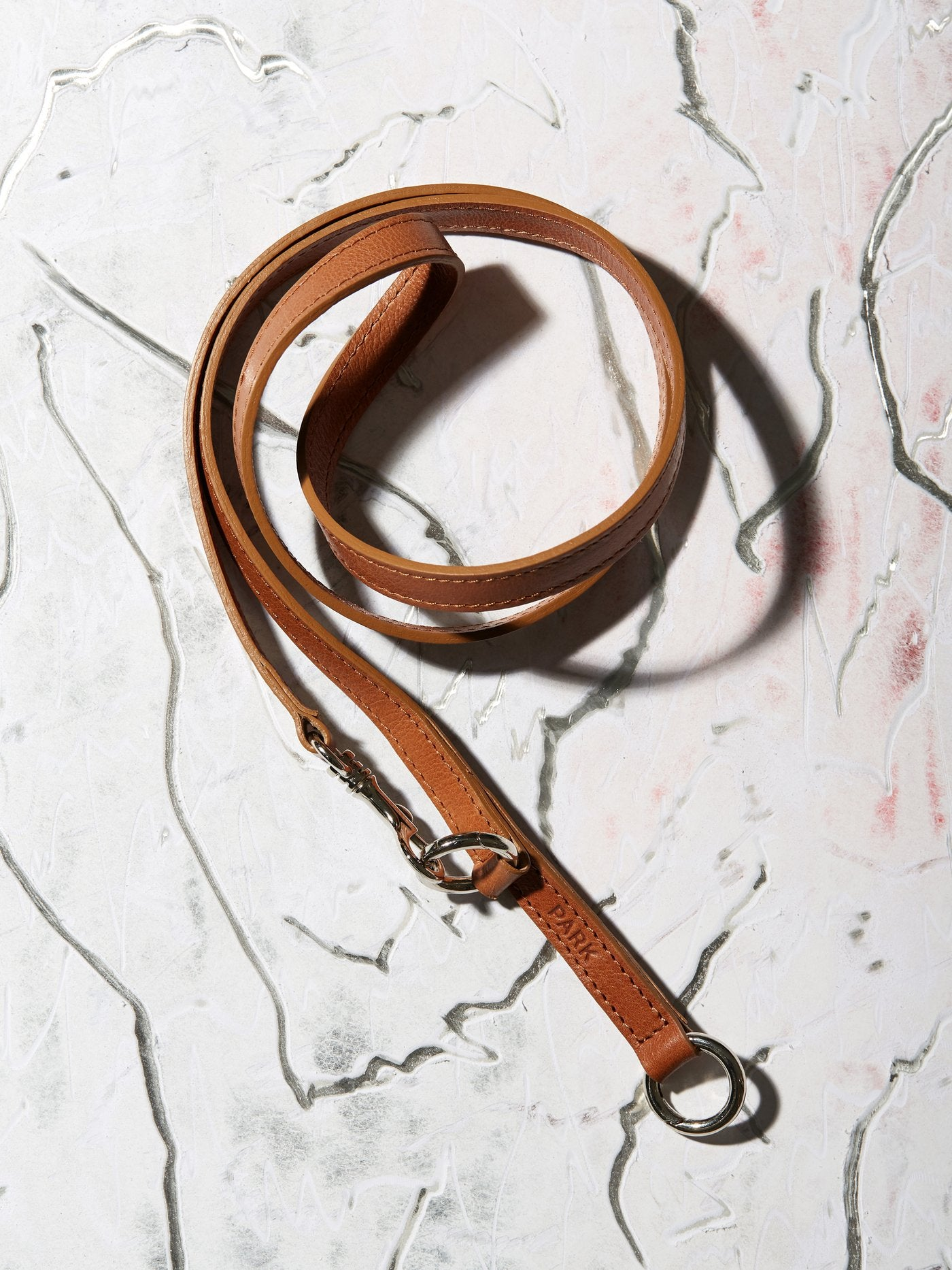 keychain - leather - brown