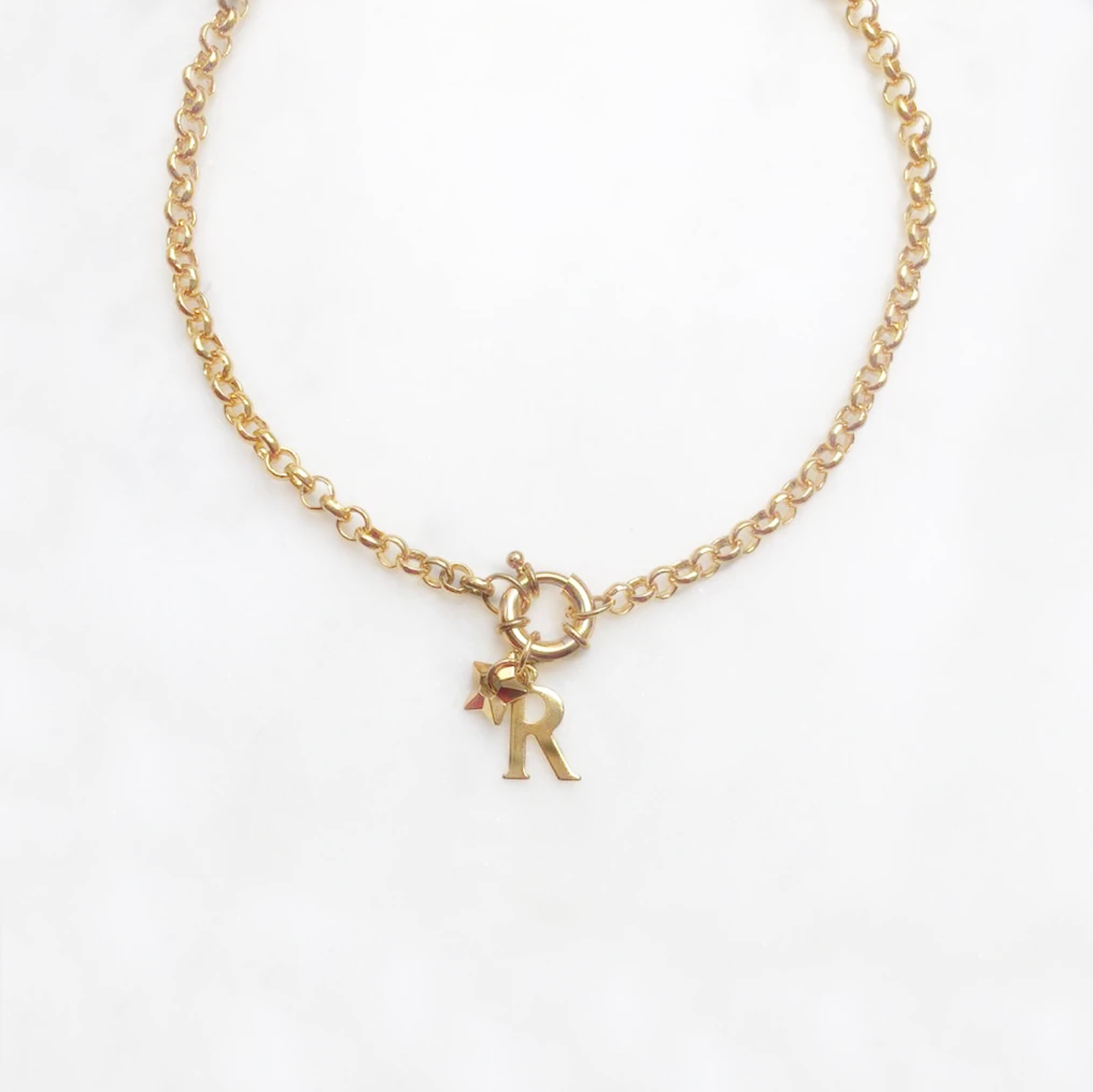 necklace - star and initial