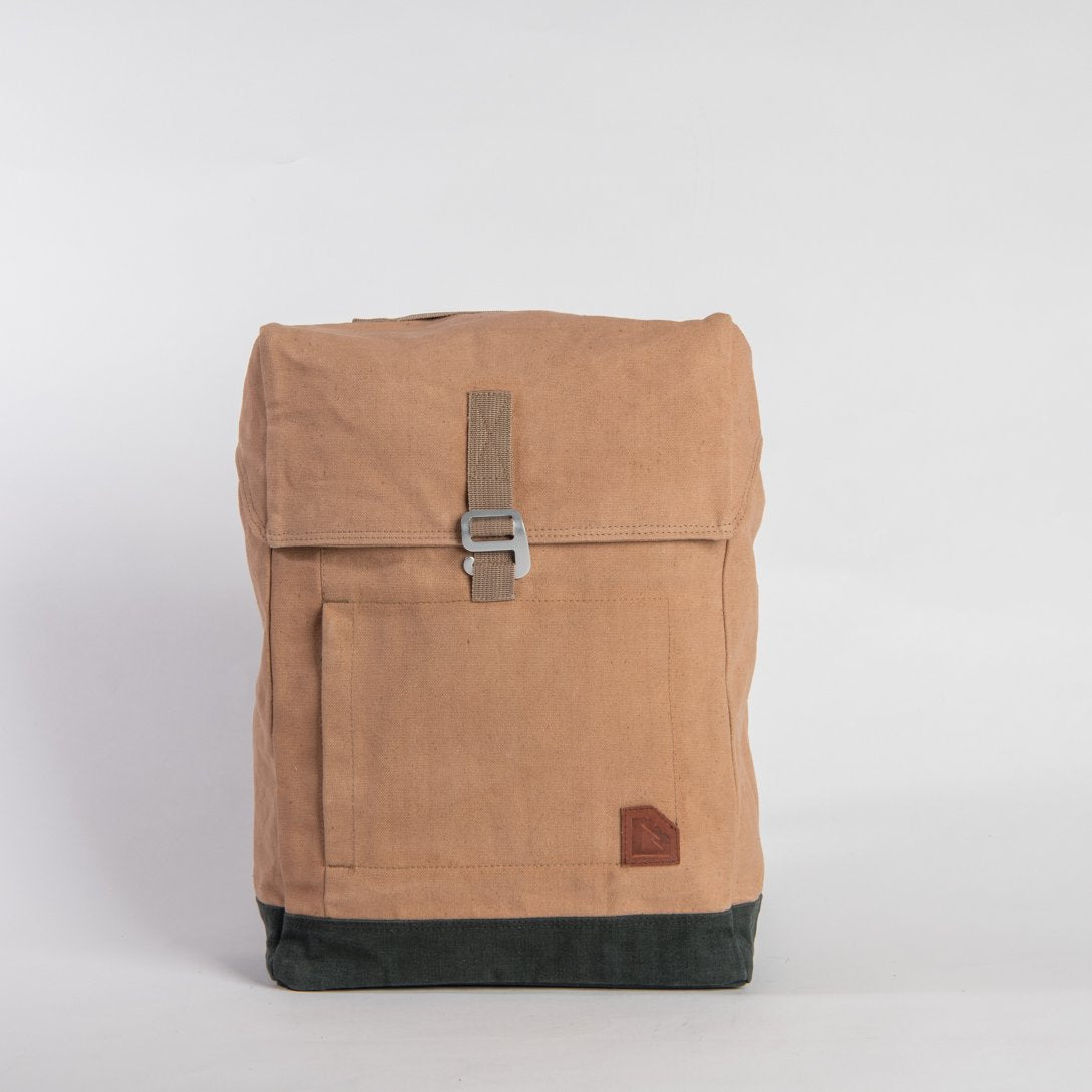 backpack - light brown green