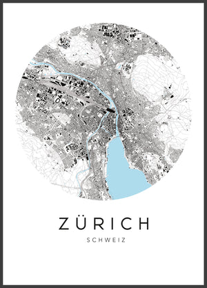 Open image in slideshow, map - urbanhood - züri city - collab zürich
