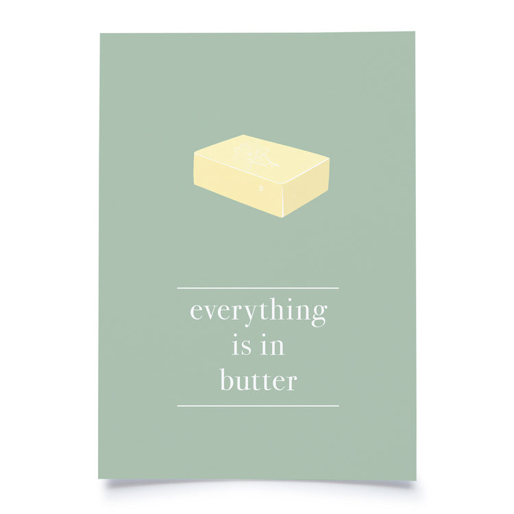 postcard - everything is in butter - collab zürich