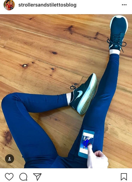Lume Smart Leggings - Full Length Navy Blue
