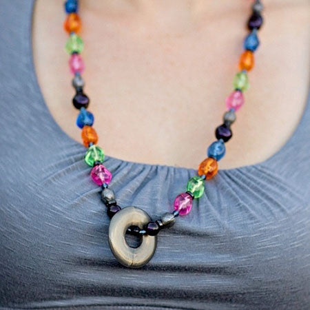 Mommy Necklaces - Dangling Donut Nursing Necklaces