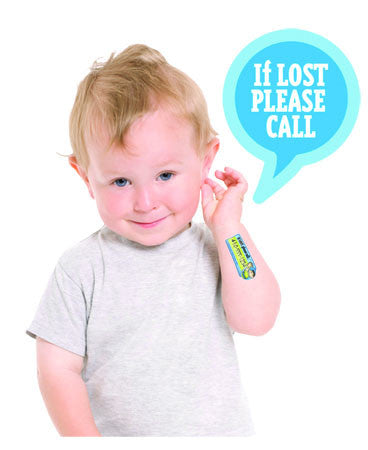SafetyTat Quick Stick Write-On! Peel-and-Stick Kids' Temporary Safety Tattoo