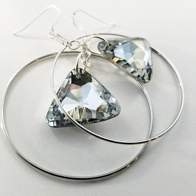 Silver Shimmer Hoop Earrings