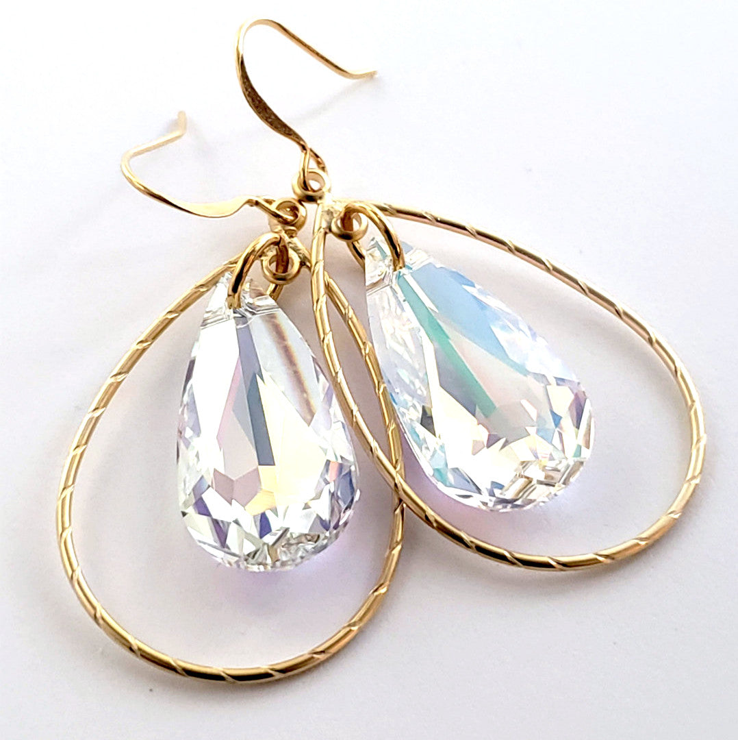 Verdier Aurora Lights Crystal Teardrop Earrings