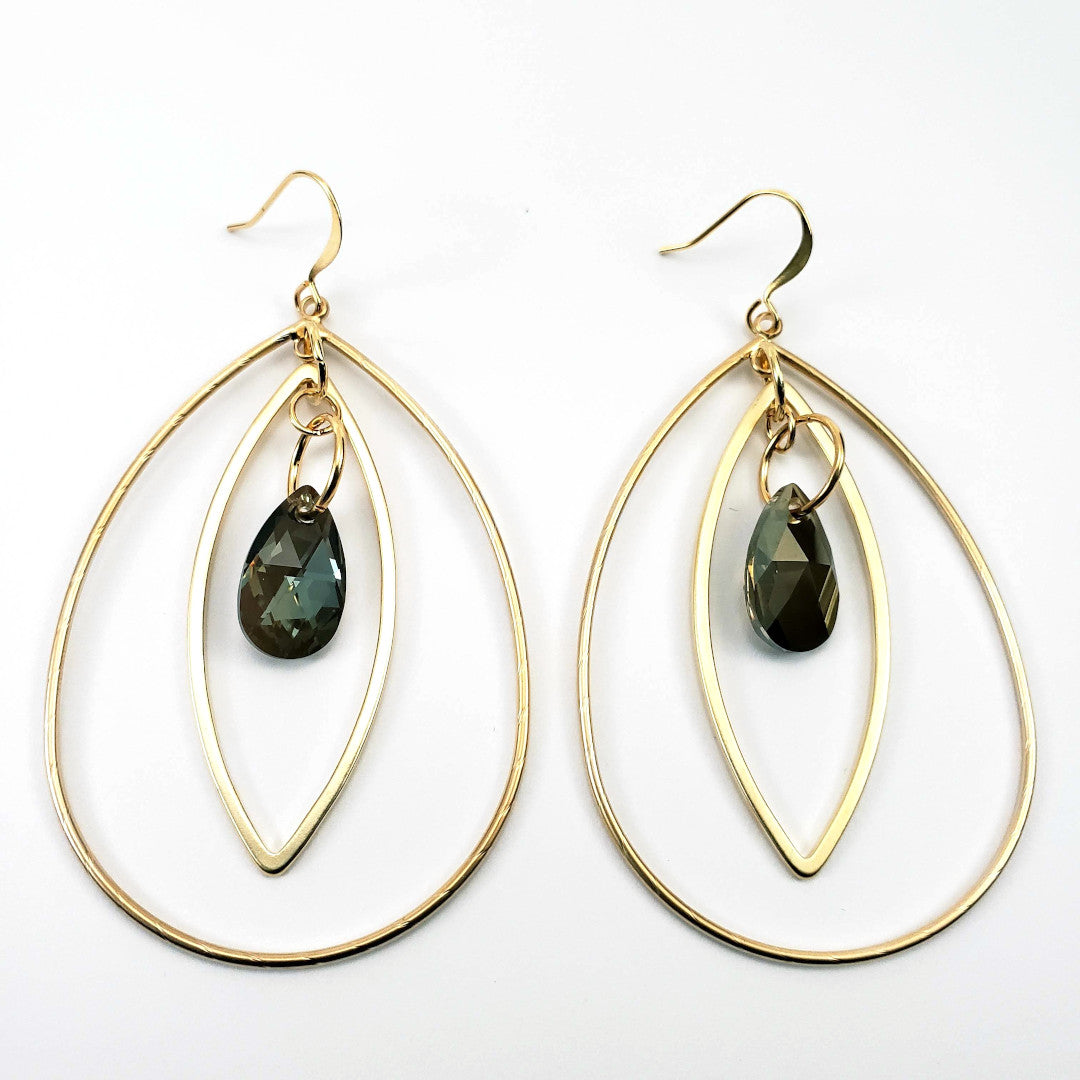 Swarovski Ivy Teardrop Hoop Earrings