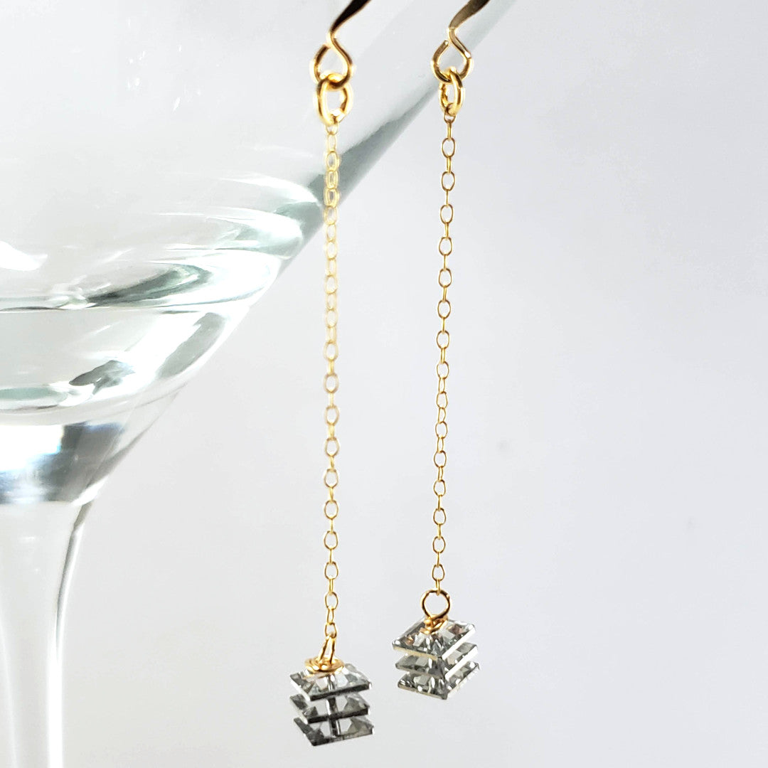 Vintage Petite Swarovski Crystal Earrings