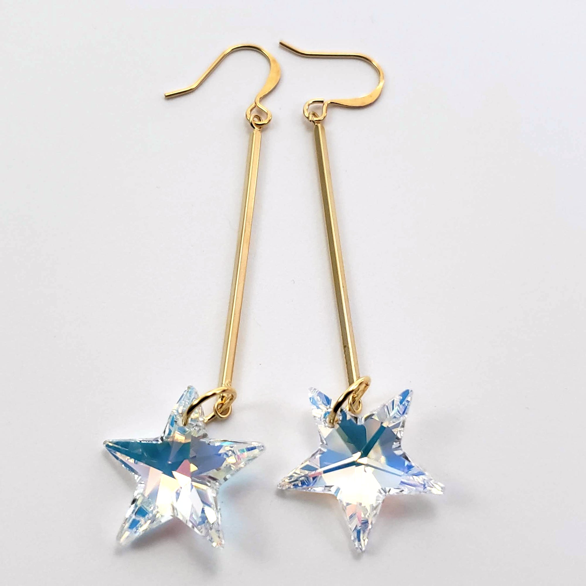 Verdier AB Star Earrings on Gold