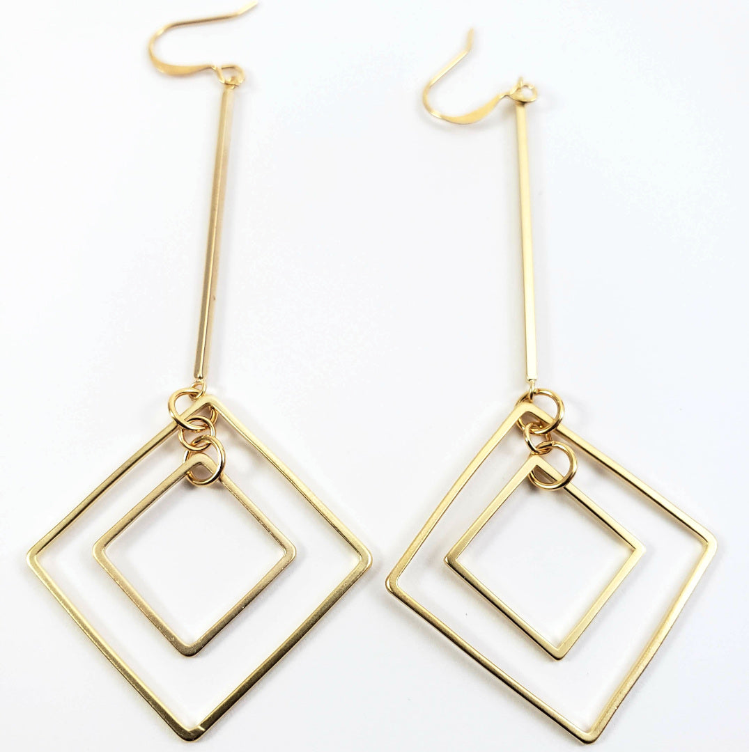 Matte Gold Geometric Drops
