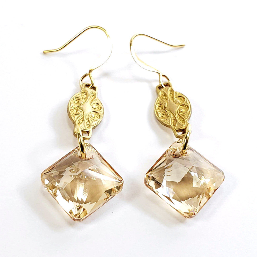 Verdier Golden Princess Drop Earrings