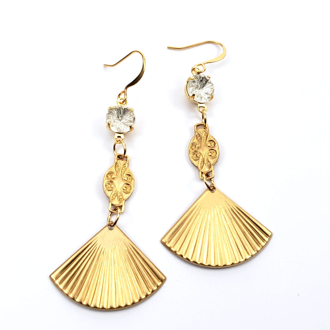 Verdier Vintage Fan Earrings